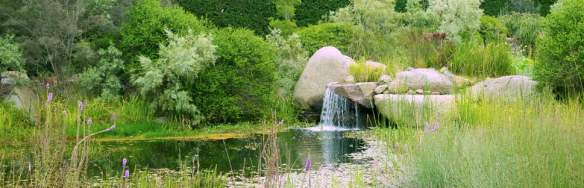 Philip Johnson designed waterfall and pool at Lubra Bend in the Yarra Valley off set with' hand selected boulders to showcase nature's sculptural brilliance' (Johnson). (Anne Vale)