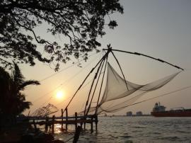 Chinese fishing nets and sunset over the Arabian Sea attract photographers from everywhere – can't imagine why….. Fort Cochin, Kerala.
