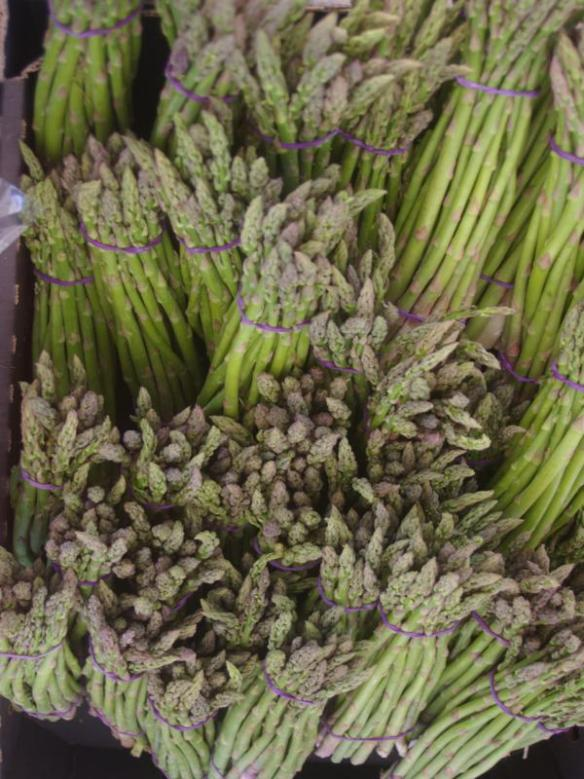 Delicious green asparagus at my local market