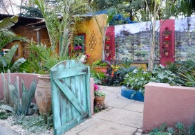 'Mexican Colonial Hacienda Style Courtyard Garden'. Designed by Sonita Young of Young Landscape Design Studio, installed by Young Landscape Design Studio