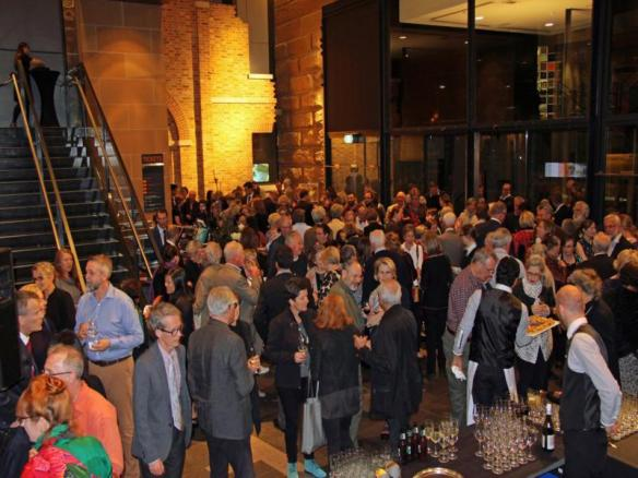 Crowd at the Museum of Sydney for opening by Tim Entwisle