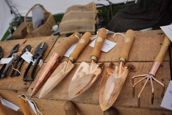 Beautiful copper hand tools from Verily Wood at the Botanic and Rare Plant Fair Melbourne