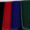 Felpudo rizo terminado color rojo Felpudo rizo terminado color verde Felpudo rizo terminado color gris Felpudo rizo terminado color marrón Felpudo rizo terminado color negro