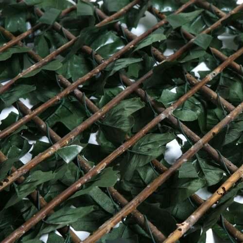 Celosía-mimbre-extensible-hoja-decorativa-decoración-jardín