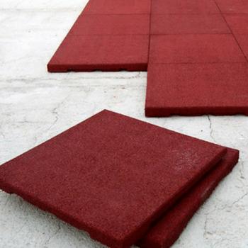 losetas de caucho-color rojo-pavimento-infantil-antideslizante-amortiguador-colores-medidas-espesores