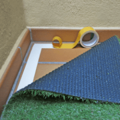 Adhesivo doble cara-cinta-gardeneas-cesped-artificial-jardin-cuidados