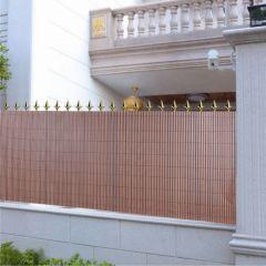 Cañizo-PVC-doble-cara-chocolate-separación-ocultación-jardín