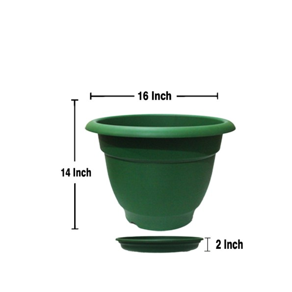 Size of planter with Saucer 16 Inch