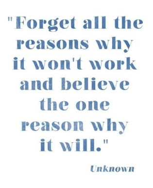 forget the reasons why it won't work