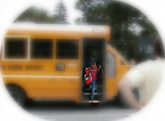 School bus, first day