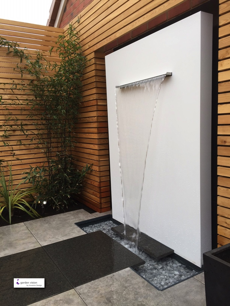 Modern Garden Design Water Feature - Gardenezee on Modern Backyard Water Feature id=18257