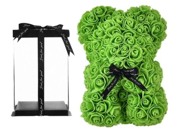 Rose Teddy Bear Rose Bear green Gifts for mum Women Her Teen Girls Gifts