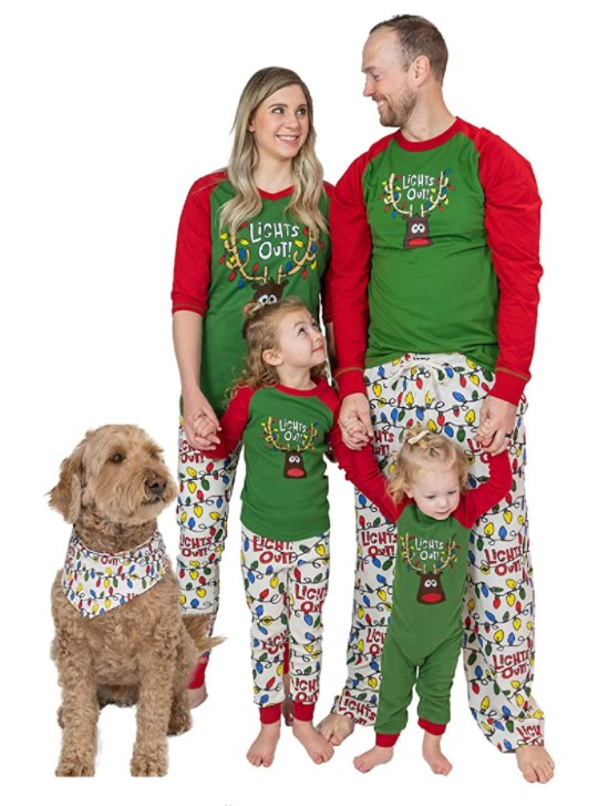 Lazy One Lights Out Christmas Pajamas for The Whole Family