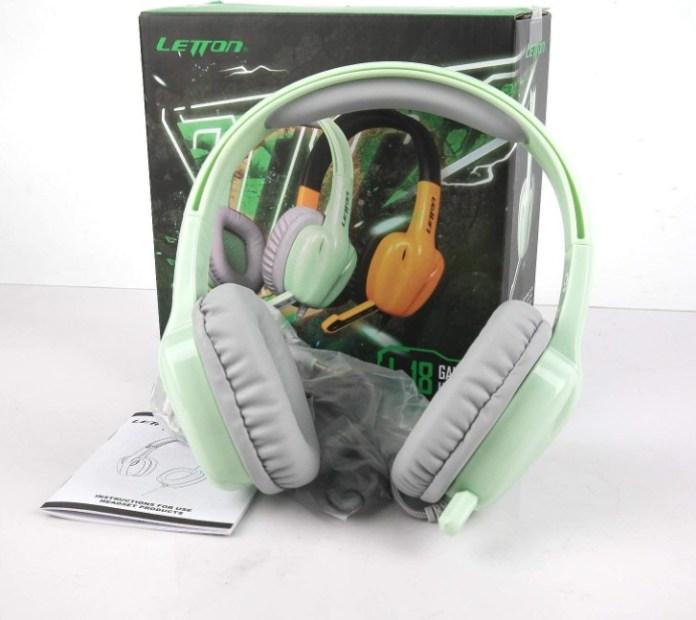 Letton Kids Headphones Sage Green Color