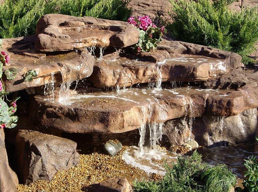 Small Cascade Waterfall Rock, Backyard Garden Waterfalls on Rock Garden Waterfall Ideas  id=77976