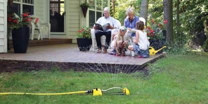 Dramm Yellow Oscillating Sprinkler