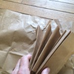 grocery bag folded accordion style