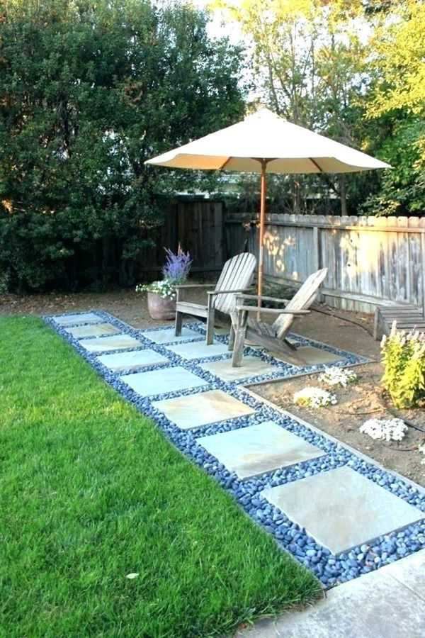 30 Amazing Small Backyard Landscaping Ideas That Will ... on Rock Patio Designs  id=77588