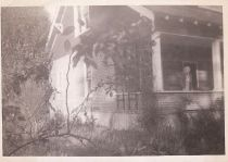 1949 Canfield House, Grandma Mabel Ford Babbitt on front porch.