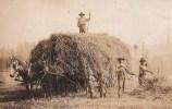 Shattuck hay wagon, 2 little girls, 3 men