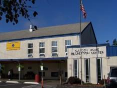 Garden Home Recreation Center main entrance, 2011