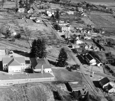 1950 aerial view of Oleson Rd and Garden Home Rd intersection