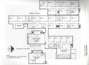 1983 Garden Home School floorplan diagram