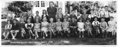 1939 Garden Home School, primary grades. Leo Feldman in top row next to teacher, Zora & Sharka Becvar, center front row. Courtesy Bob Feldman. See post.