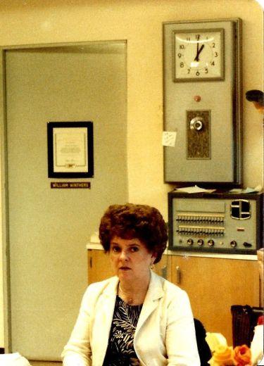 GHS 1982 Last Day - Mary Landers, School Secretary