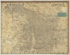 1946 Pittmon street map city of Portland