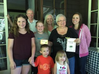 Tom and Catherine Lekas, daughter-in-law, daughter, 4 grandchildren.