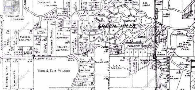1927 Atlas of Washington County shows Garden Home Road where today's SW Patton Road is located.
