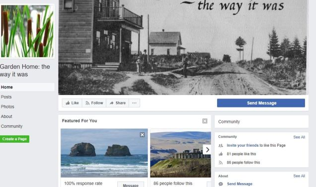 Ginny Mapes - Facebook - Garden Home, The way it was