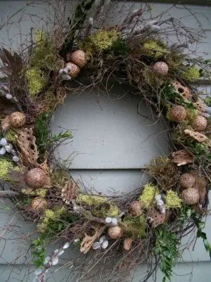 woodsy spring wreath