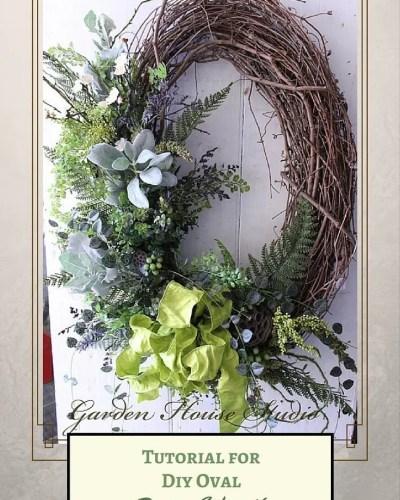 DIY Oval Spring Wreath
