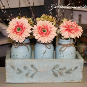 Milk Painted Spring Centerpiece