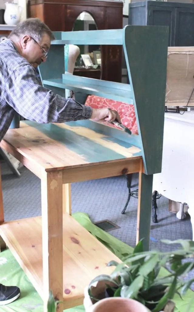 milk paint tutorial;