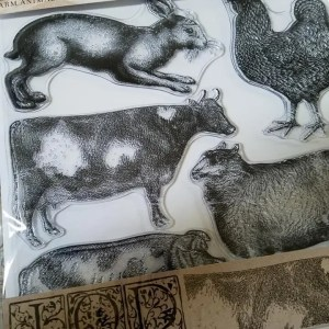 iod farm animal stamp