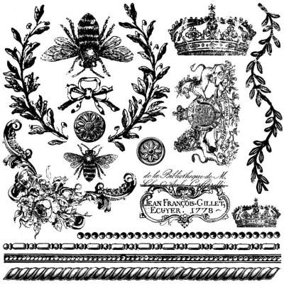 Queen Bee IOD Stamp