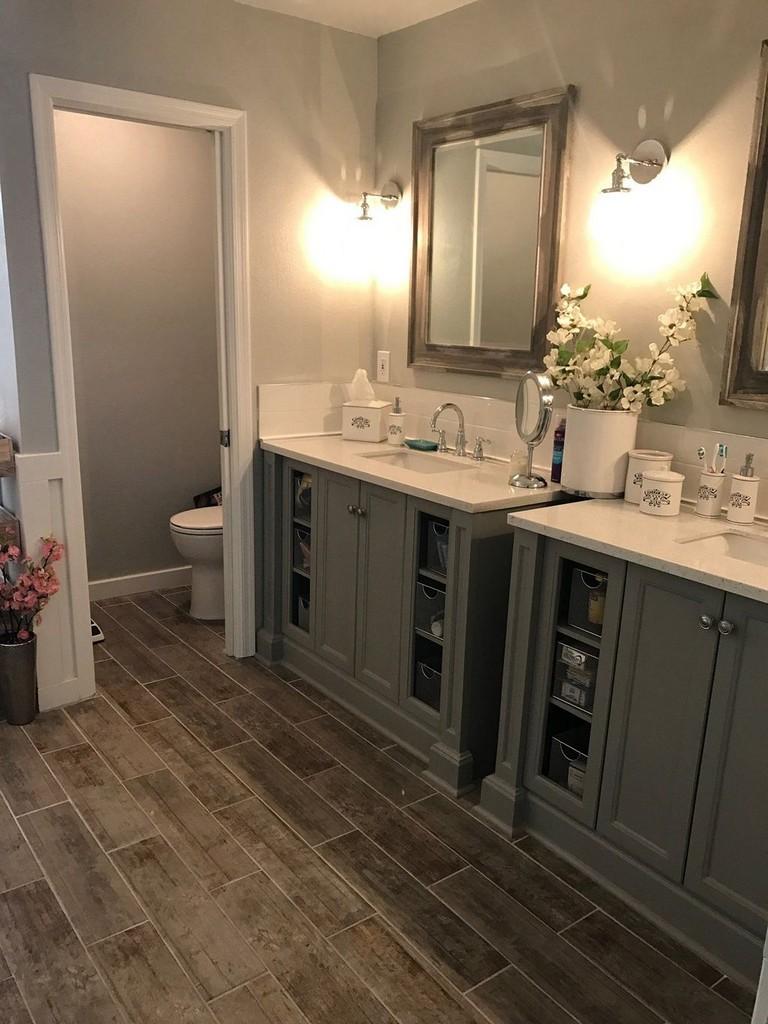 73+ Marvelous Modern Farmhouse Style Bathroom Remodel ... on Bathroom Ideas Modern Farmhouse  id=57929