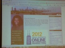 Stephanie D. Neely, City Treasurer sponsored the Social Media Online Marketing Contest with Constant Contact Steve Robinson Regional Manager