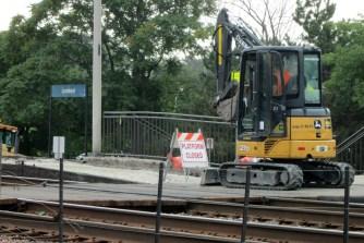 Metra Lombard Platform Closed