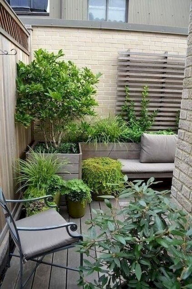 70 Awesome Small Garden Ideas for Apartment (31)