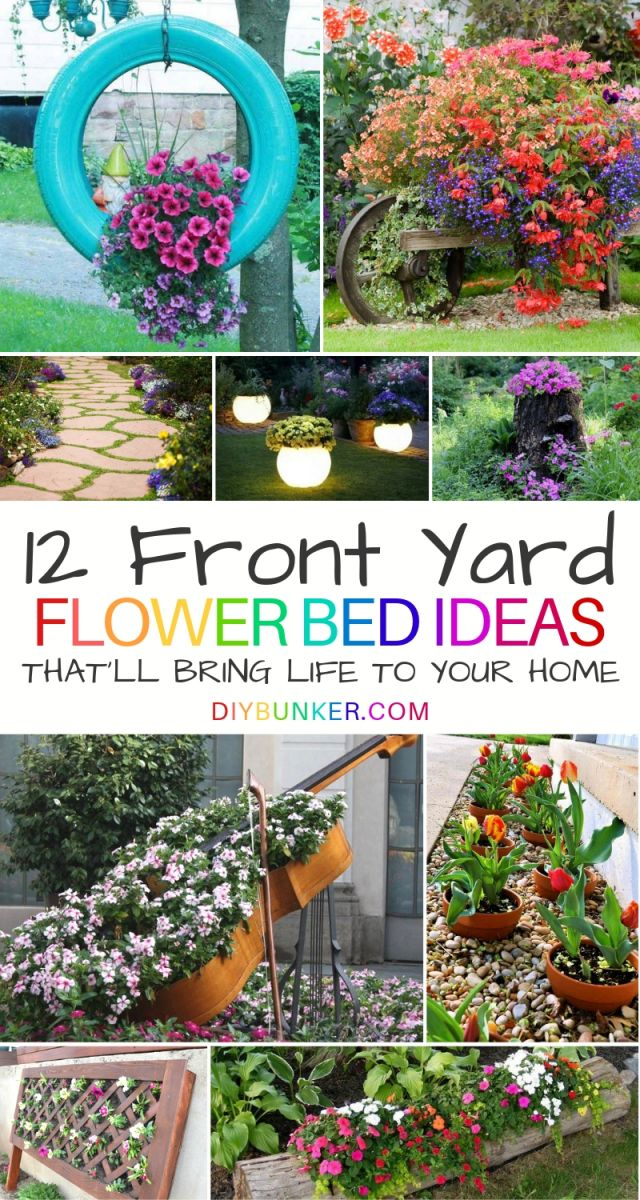 Best  flower bed ideas front of house