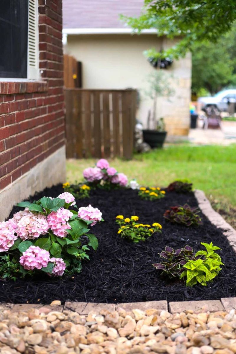 Adorable  flower bed ideas front of house