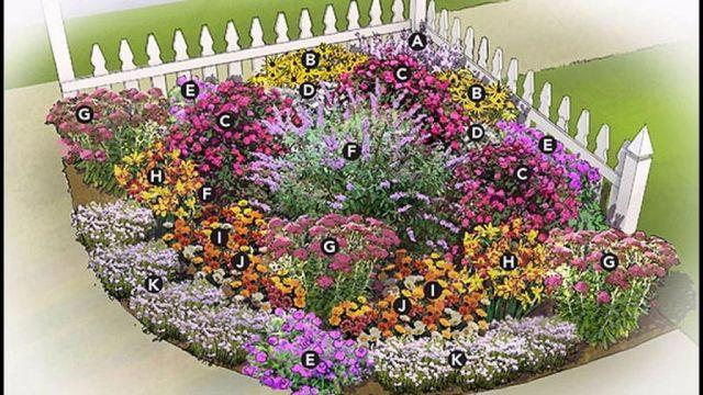 Gorgeous corner garden bed ideas