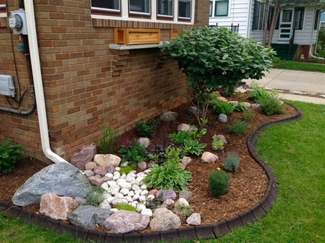 Top rock garden ideas for front yard