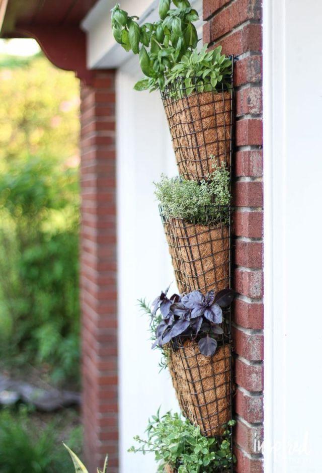 Beautiful hanging herb garden ideas