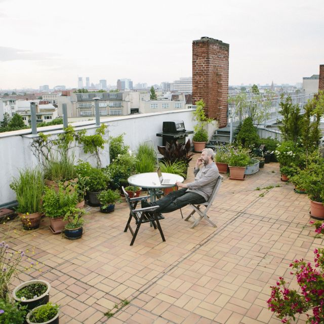 Adorable roof garden ideas for home