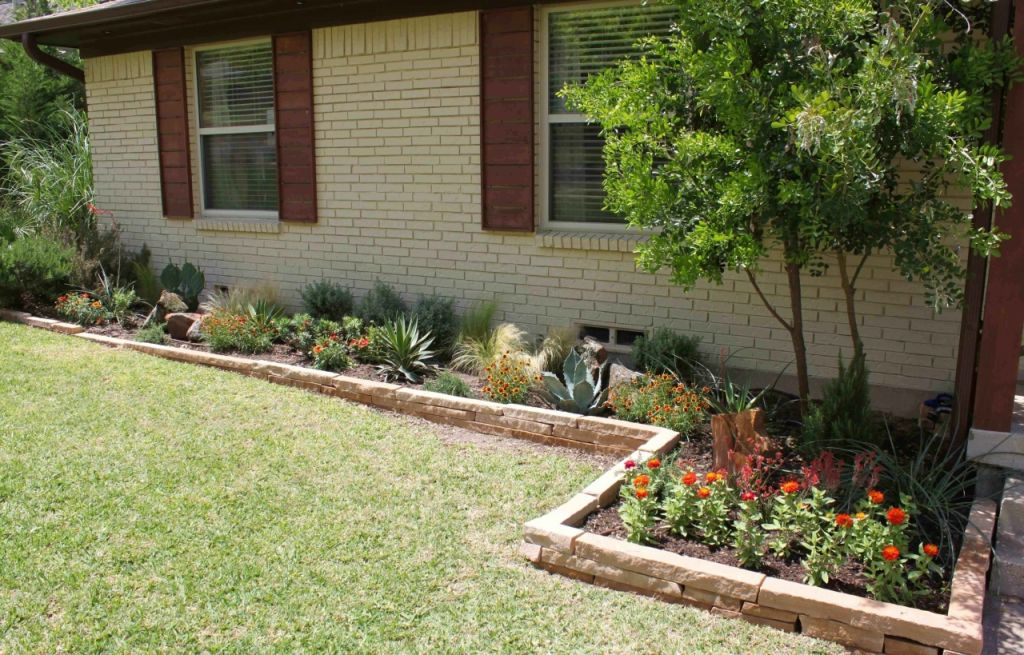 Amazing  flower bed ideas front of house